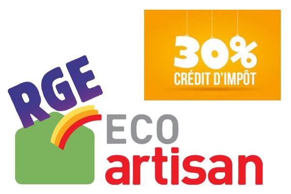 rge eco artisan credit impot